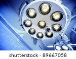 two surgical lamps in operation ... | Shutterstock . vector #89667058