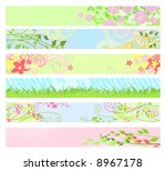 Spring floral website banners / vector / for your web-site - stock vector
