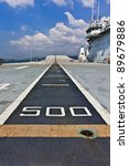 Small photo of Runway on an Aircraft Carrier