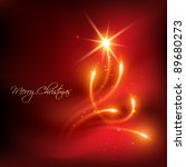 Vector Red Color Merry...