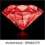realistic ruby on black... | Shutterstock .eps vector #89686174