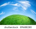 earth globe covered with grass | Shutterstock . vector #89688280