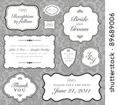 vector wedding frame set. easy... | Shutterstock .eps vector #89689006