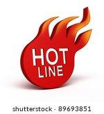 hot line icon over white | Shutterstock . vector #89693851