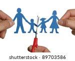 man and womans hands cutting... | Shutterstock . vector #89703586