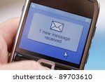 text message received on a... | Shutterstock . vector #89703610