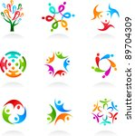 collection of social media and... | Shutterstock .eps vector #89704309