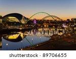 Tyne Bridges At Twilight  ...