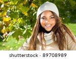 close up of a beautiful african ...   Shutterstock . vector #89708989