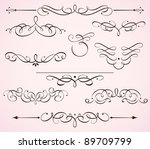 vector illustration set of... | Shutterstock .eps vector #89709799