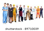 group of industrial workers.... | Shutterstock . vector #89710039