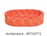 Stock photo red bed cot for pets isolated 89710771