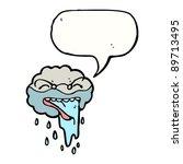 cartoon raincloud with speech... | Shutterstock .eps vector #89713495