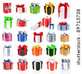 color gift boxes collection... | Shutterstock . vector #89713738