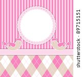 baby girl card with birds and...   Shutterstock .eps vector #89715151