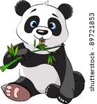 Baby Panda Sitting And Munchin...