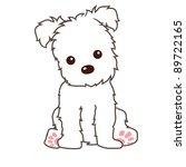 Stock vector terrier dog vector 89722165