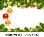christmas background with... | Shutterstock . vector #89725933