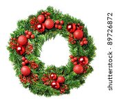 loaded christmas wreath... | Shutterstock . vector #89726872