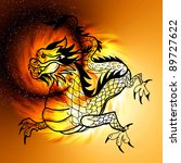 east symbol 2012 year   dragon   Shutterstock . vector #89727622
