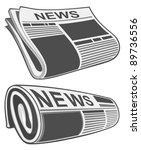 rolled newspaper vector | Shutterstock .eps vector #89736556