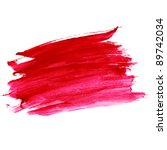 Watercolor Paint Red Strokes...