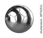 A 3d Rendered Chrome Soccer...