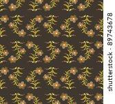 seamless retro flower pattern | Shutterstock .eps vector #89743678