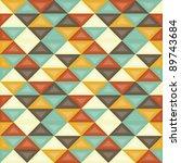 seamless retro geometric pattern | Shutterstock .eps vector #89743684