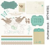scrapbook design elements  ... | Shutterstock .eps vector #89744581