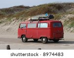 Old Volkswagen Bus With...