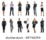 set of business people isolated ... | Shutterstock . vector #89746594