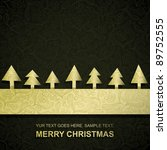 christmas card with gold paper... | Shutterstock .eps vector #89752555