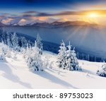 Majestic Sunset In The Winter...