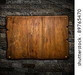 Old Wood Board On Wall