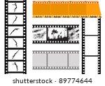 set camera film  vector... | Shutterstock .eps vector #89774644