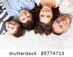 a young family of father ... | Shutterstock . vector #89774713