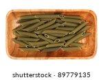 green pasta  in a wooden bowl ... | Shutterstock . vector #89779135