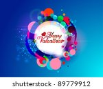 lovely colorful valentines | Shutterstock .eps vector #89779912