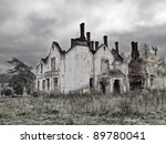 Abandoned And Ruined House In...