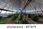 EOS Mars Program Greenhouses Cluster - stock photo