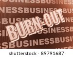 burn out syndrome | Shutterstock . vector #89791687