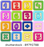 colorful number blocks | Shutterstock .eps vector #89792788