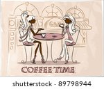 time for coffee  the background | Shutterstock .eps vector #89798944