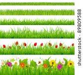 Big Grass And Flower Set ...