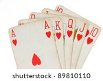 playing cards  poker royal...   Shutterstock . vector #89810110