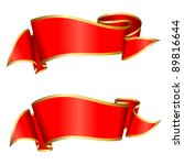 red ribbon collection | Shutterstock .eps vector #89816644