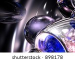 blue silver balls