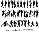 vector silhouettes of people in ... | Shutterstock .eps vector #8982124