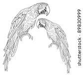 macaws.  illustration. | Shutterstock . vector #89830999